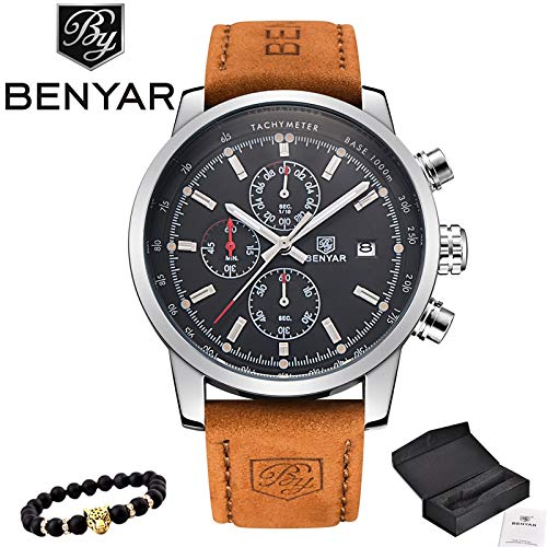 Grass 135 reloj Hombre 2017 top Brand Luxury benyar Fashion Chronograph Sport Mens Watches Military Quartz