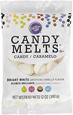 Wilton Candy Melts Flavored 12oz, Bright White, Vanilla