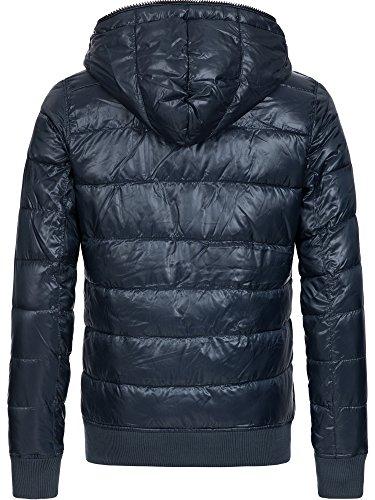 Down XL Blue S Jacket Hooded Winter L Jacket Men's Warm XXL Transition M Solid Jacket Ex7W1H6wxq