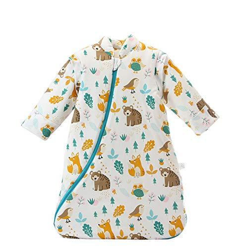Fairy Baby Newborn Baby Unisex Winter Thick Sleepsack Cartoon Bunting Bag Wearable Blanket Size 0-12M (Animal World -