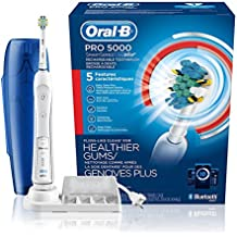 Oral-B Pro 5000 SmartSeries Power Rechargeable Electric Toothbrush with Bluetooth Connectivity, Powered by Braun