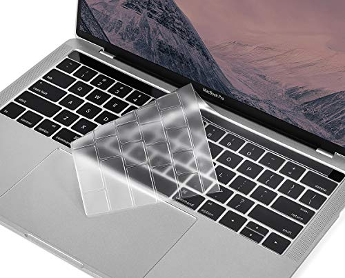 for MacBook Pro Touch Bar Keyboard Cover, CaseBuy Ultra Thin Clear Keyboard Skin for 2019-2016 Release MacBook Pro with TouchBar 13 Inch A2159 A1706 A1989 or 15 Inch A1707 A1990 Protective Skin