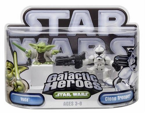 Star Wars Galactic Heroes Episode 2 Junior Figure 2 Pack Yoda & Clone Trooper