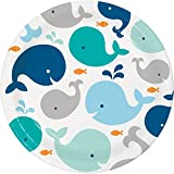 Blue Baby Whale Paper Plates, 24 ct