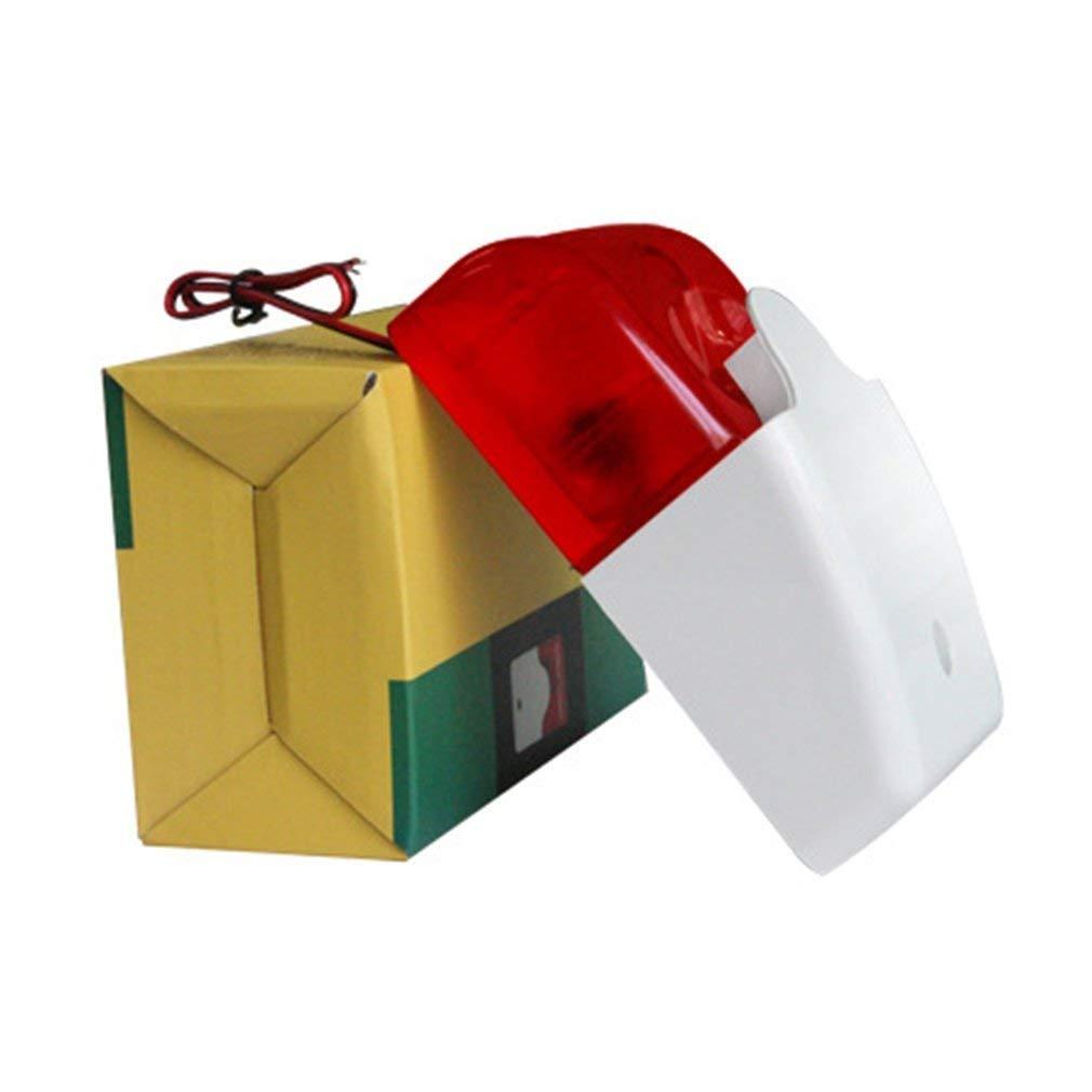 NiceButy Alarme stroboscopique sirène Filaire système d'alarme de sécurité d'alarme sonore Lumineux Clignotant 12V 1016-173-GN