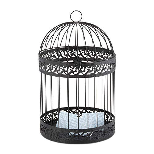 Weddingstar 9118-10 Blk Classic Round Dec.Bird Cage (1)