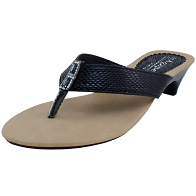Agape VEGA-30 Saffiano Thong Sandal: Shoes