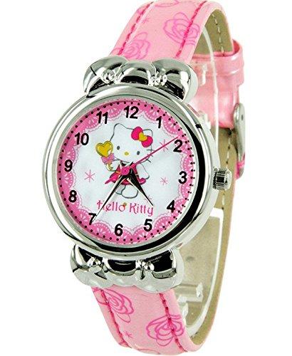 Hello Kitty reloj, Hello Kitty Niños Cartoon reloj lazo de niña reloj (rosa)