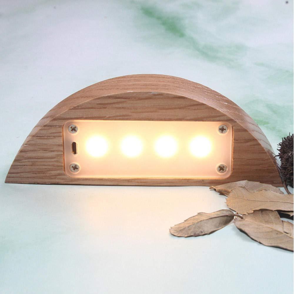 Sensor táctil LED creativo de madera maciza luz de la noche decoración del hogar luz de adsorción magnética atenuación lámpara de mesa regalo