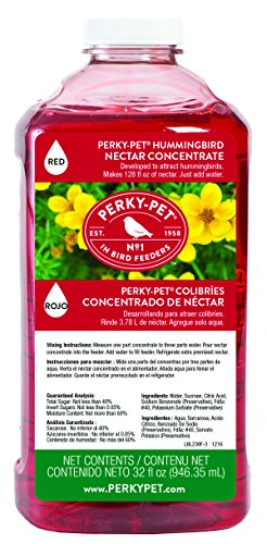 Perky-Pet 238 Hummingbird Nectar, 32-Ounce Concentrate (Nectar The Hummingbird)