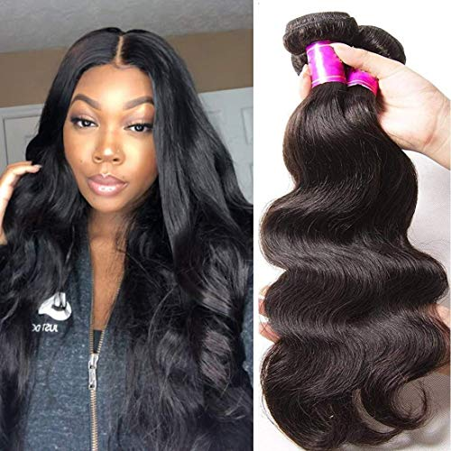 ALI JULIA 20 18 16 Inch Brazilian 10A Virgin Body Wave Hair Weave 3 Bundles 100% Unprocessed Human Hair Weft Extensions Natural Color 95-100g/pc