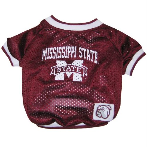Mirage Pet Products Mississippi State Bulldogs Jersey for Dogs and Cats, Medium