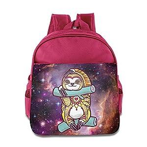 Floral Pattern Sloth Kids Backpack School Bag For Boys/girls Pink