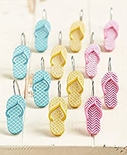 The Lakeside Collection Set Of 12 Flip Flop Shower Curtain Hooks