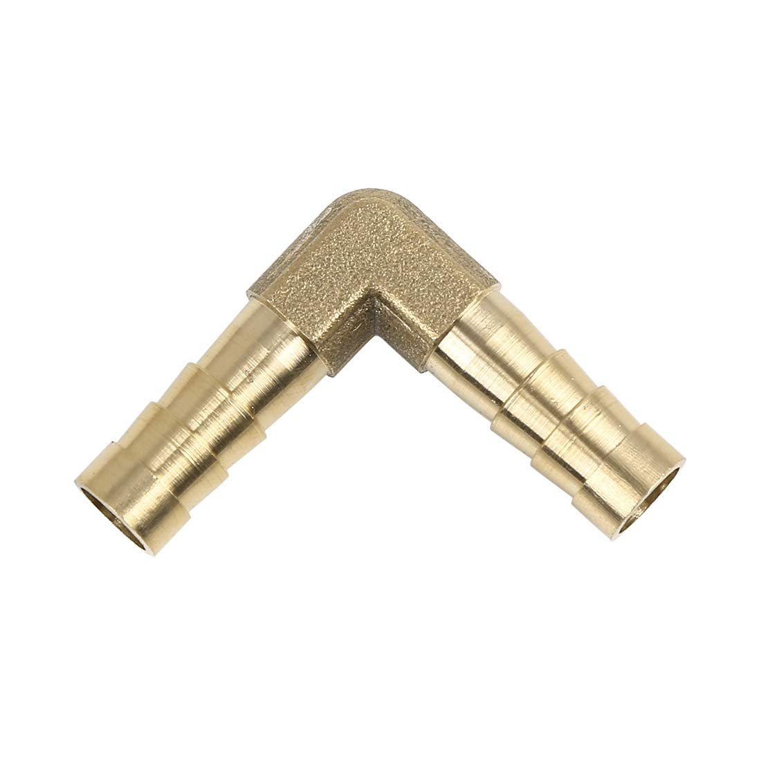 X AUTOHAUX 12mm Brass Barb Elbow 90 Degree Male Thread Connector for Air Water Gas Oil