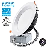 "TORCHSTAR 18W 6"" Slim Recessed Ceiling Light with Junction Box, Ultra Bright 1500lm, Dimmable Can Killer, IC Rated Airtight Downlight, 150W Equiv, ETL & Energy Star Certified, 3000K Warm White"
