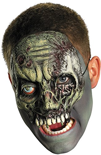 Chinless Walking Zombie Vinyl Mask Costume Accessory Adult Vinyl Half Mask
