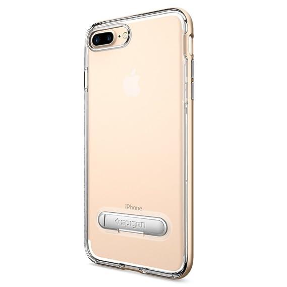 f89b7e438d6 Spigen Funda para iPhone 8 Plus, iPhone 7 Plus, Crystal Hybrid, con  Kickstand Estuche para Apple iPhone 8/7 Plus - Dorado Champán:  Amazon.com.mx: ...