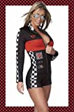 Hot Rod Racer Girl Costume One Size Fits Most