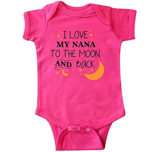inktastic - I Love My Nana to The Moon and Infant Creeper Newborn Hot Pink ()