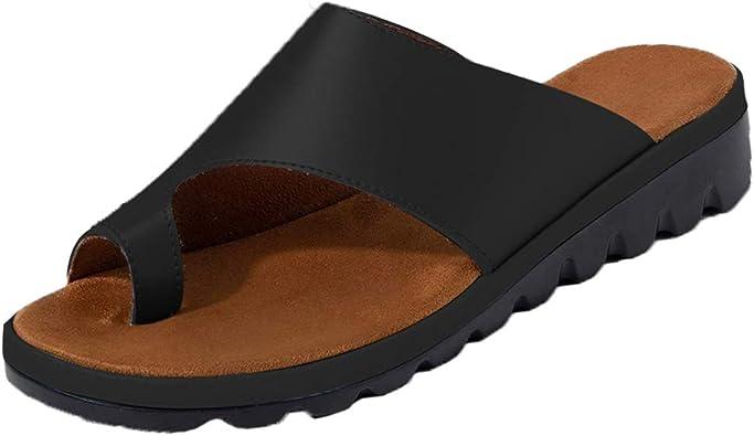 Women PU Wedge High Heel Platform Sliders Sandals Flip Flops Ladies Summer Shoes