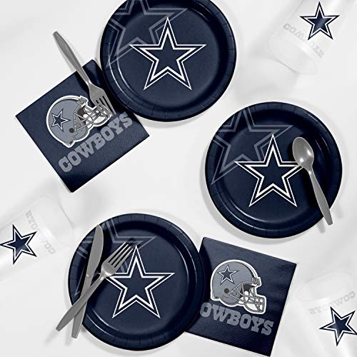 Dinner Cowboys Plates (Creative Converting Dallas Cowboys Tailgating Kit, Serves 8)
