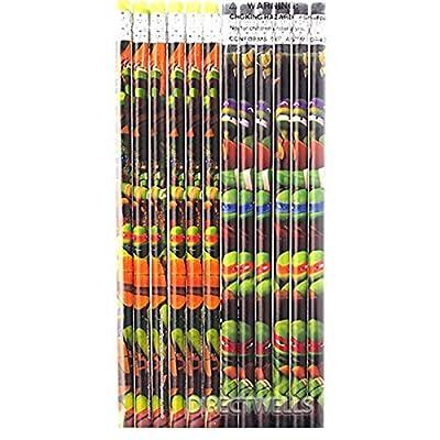 Teenage Mutant Ninja Turtles Authentic Licensed 12 Wood Pencils Pack