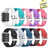THRODY Fitbit Blaze Bands and Frame, Accessory Replacement Fit bit Blaze Band Strap for Smart Fitness Blaze Watch Bracelet Wristband Large Small with Metal Buckle Clasp Women Men Kids, No Tracker