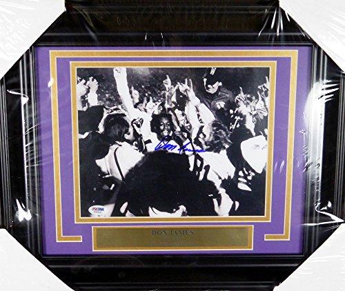 Don James Autographed Framed 8x10 Photo Washington Huskies PSA/DNA #X30435