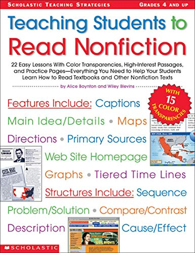Halloween Reading Comprehension High School - Teaching Students to Read Nonfiction: Grades