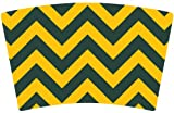 Mugzie brand Cocktail Shaker with Insulated Wetsuit Cover - Green Bay Football Colors Chevron