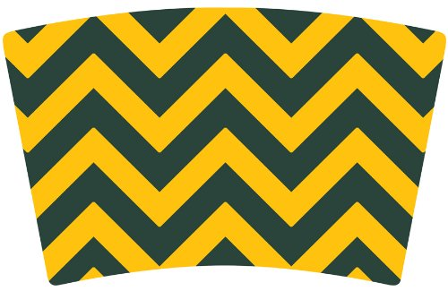 Mugzie brand To Go Tumbler with Insulated Wetsuit Cover Green Bay Football Colors Chevron