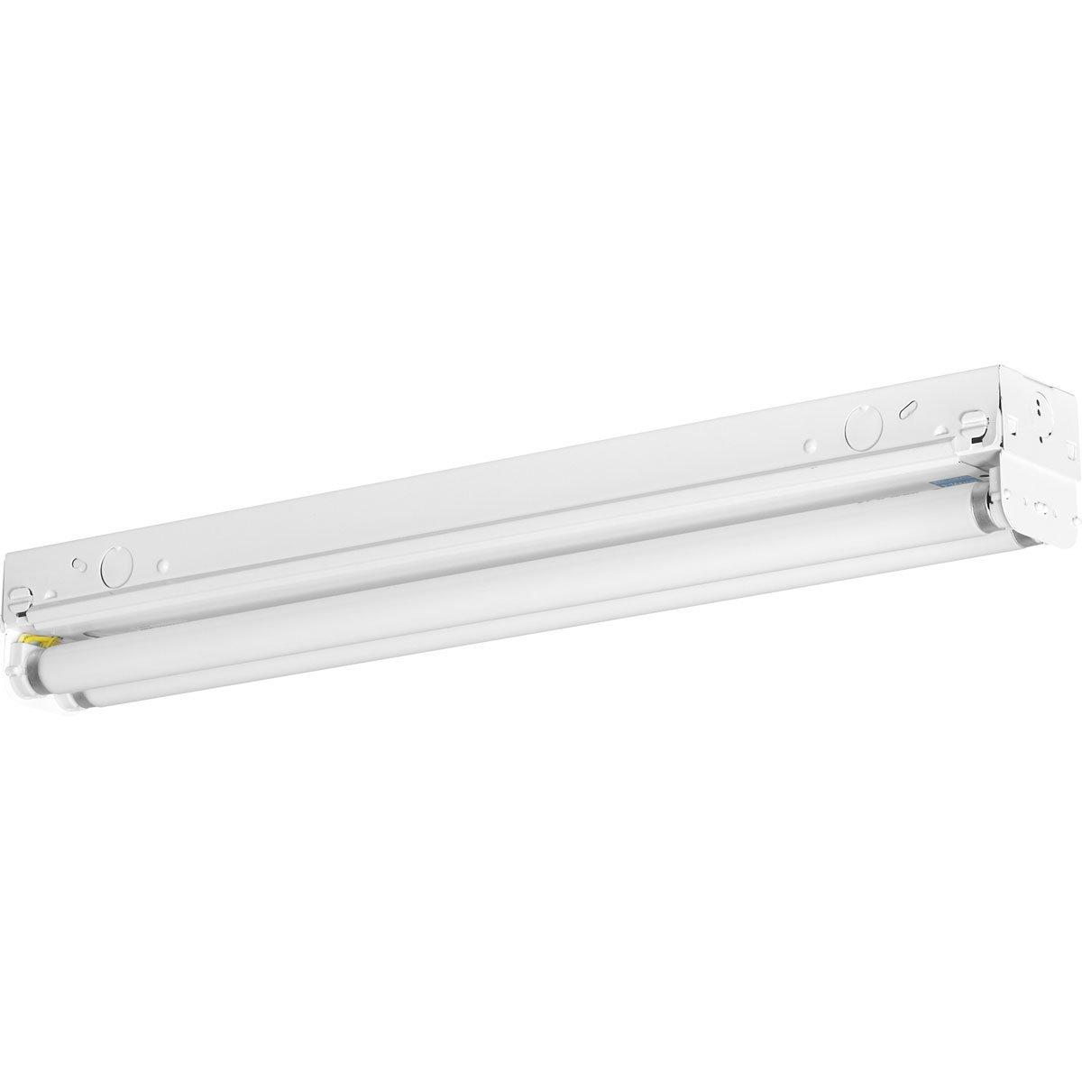 Progress Lighting P7266-30EB Fluorescent Strip Lights 120 Volt Normal Power Factor Electronic Ballast, White