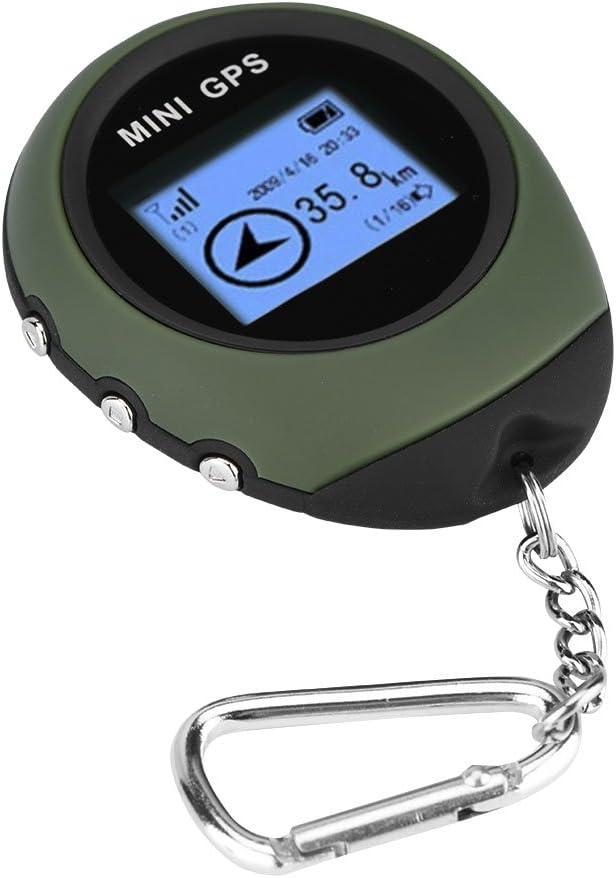 Eboxer Mini Localizador GPS para Viaje y Aventura en Solitario, Dispositivo Portátil de Rastreo Personal, Indicadores de Latitud y Longitud, Dirección del Terreno Objetivo y Guía de Distancia
