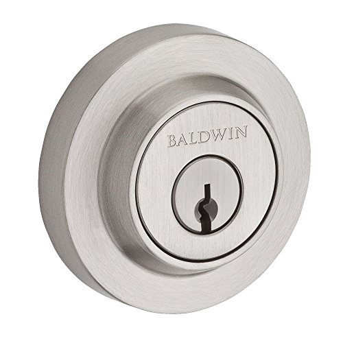 Baldwin SC.CRD.150.6L.DS.CKY.KD Contemporary Round Single Cylinder Deadbolt, Satin - Door Estate Nickel Passage