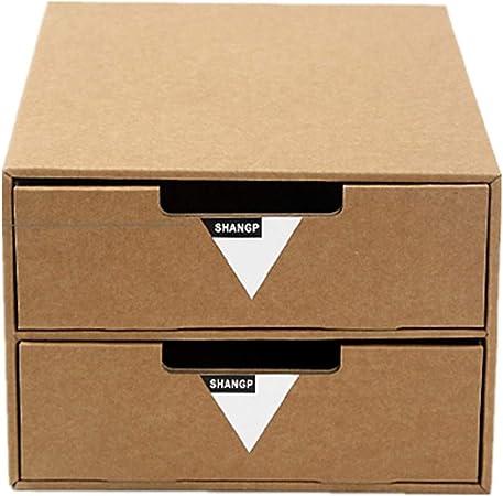Gububi Organizador de Suministros de Escritorio, Papel A4 Cajón de múltiples Capas de Papel Caja de Almacenamiento de Escritorio Escritorio Cajón de Papel Creativo de Bricolaje Caja de Almacenamiento: Amazon.es: Hogar
