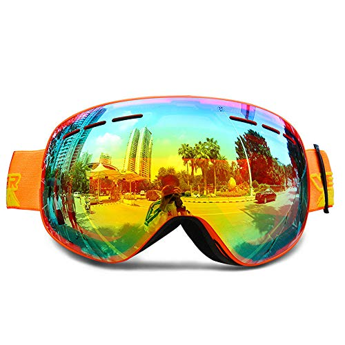 7c7b86b00bf Ski Goggles Magnet Dual Layers Lens Spherical Design Anti-Fog UV Protection  Anti-Slip