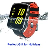 AMOPEX Bluetooth Smart Watch Fitness Tracker Heartrate Monitor - Swimming Waterproof - 1 More Watchband and Charging Cable as Extra Bonus - Perfect gift for holidays