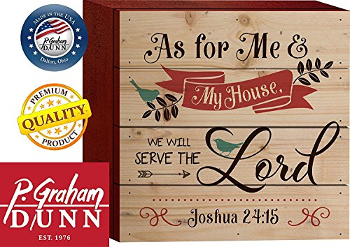 As for Me & My House Joshua 24:15 6 x 6 Wood Block-Style Wall Art Sign Plaque