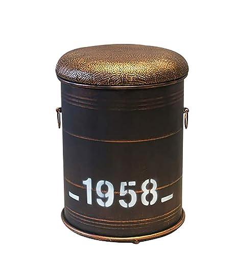 Incredible Amazon Com Creative Oil Barrel Chair Bar Stool Metal Ncnpc Chair Design For Home Ncnpcorg