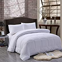 Unique Home All Season Alternative Goose Down Comforter Plush Fiberfill Duvet Insert, Twin/Twin X-Large/Queen/King