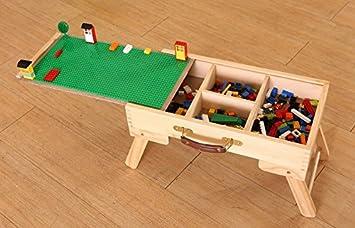 Lego storage Play Table folding custom made wooden chalkboard kids ...