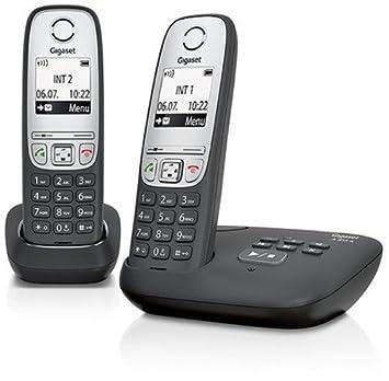 Anrufbeantworter Gigaset A 415 A Duo Schnurloses Telefon Freisprechfunktion Schwarz Silber