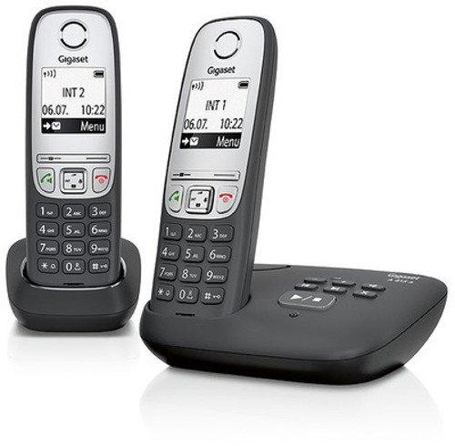 Gigaset A415A Duo Dect-Schnurlostelefon mit Anrufbeantworter (inkl. 1 zusätzlichen Mobilteil) schwarz