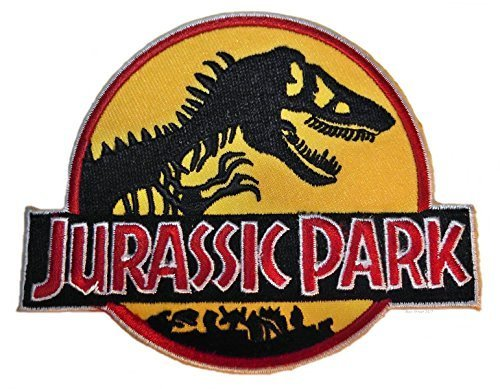 """JURASSIC PARK Logo 3"""" Wide Embroidered PATCH"""