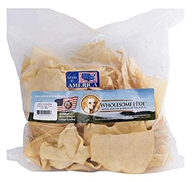 USHIDE wholesome Hide Pet Rawhide Treat Chips 2lb Bag from US Hide