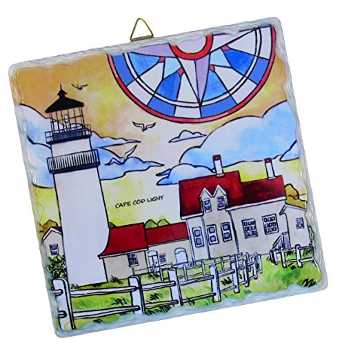 - Cape Cod Treasures Highland Light Lighthouse Decorative Ceramic Tile