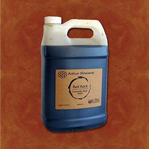 Concrete Acid Stain Stain Colors for Concrete Red Rock (Red, Orange, Terra Cotta) 1 Gallon