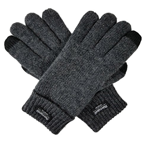 - Bruceriver Ladie's Wool Knit Gloves with Thinsulate Lining Size XL (Anthra Touchscreen)