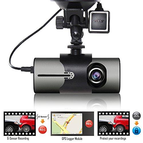 "Indigi XR300 Dash Cam 2.7"" LCD DVR + GPS Module & Google Map"